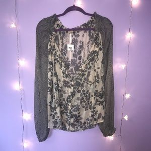 NWT Free People Long Sleeve Blouse